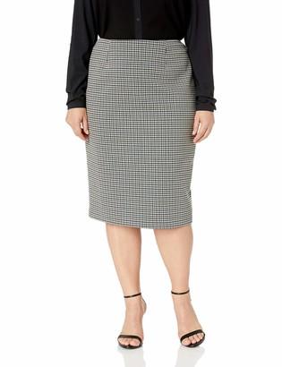 Anne Klein Women's Size Plus Tweed Pencil Skirt