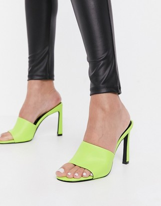Call it SPRING by ALDO Divinee heeled sandals in bright green