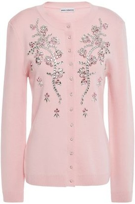 Paco Rabanne Crystal-embellished Merino Wool Cardigan