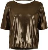 River Island Womens Brown boxy strap back T-shirt