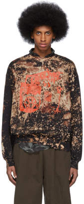 Ottolinger Black Acid Logo Graphic Crewneck Sweater