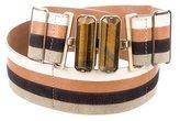 Fendi Multicolor Striped Waist Belt