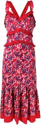Three floor Atomic Garden ruffle dress