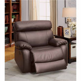 Asstd National Brand Leonard Leather Pad-Arm Recliner
