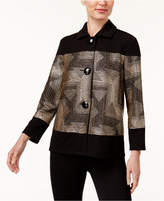 JM Collection Petite Metallic Contrast Jacket, Created for Macy's