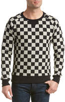 Scotch & Soda Checkerboard Crewneck Sweatshirt