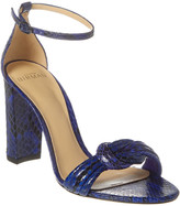 Alexandre Birman Chiara 90 Block Snake-Embossed Leather Sandal