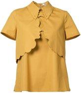 Vivetta - scalloped collar T-shirt - women - Cotton - 38