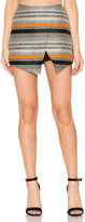 Blaque Label Stripe Wrap Skort