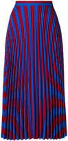 Maison Margiela striped pleated skirt