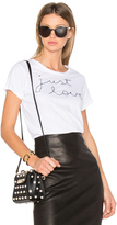 Sundry Just Love Embroidered Tee