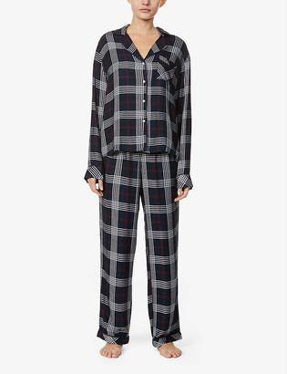 Rails Clara checked woven pyjama set