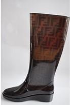 Fendi pristine (PR Zucca Wedge Rainboots Size 37