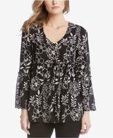 Karen Kane Embroidered Ruffle Blouse, Created for Macy's