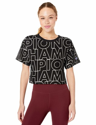 Champion Life Women's Heritage Cropped TEE AOP