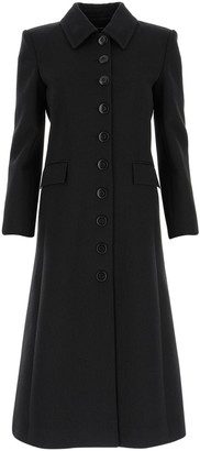 Givenchy Pointed Collar Single-Breasted Coat