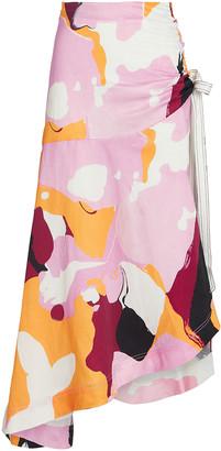 Aje Psychedelia Printed Midi Skirt