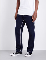 True Religion Contrast-stitch jersey jogging bottoms