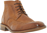 Bertie Canister Brogue Boots, Tan