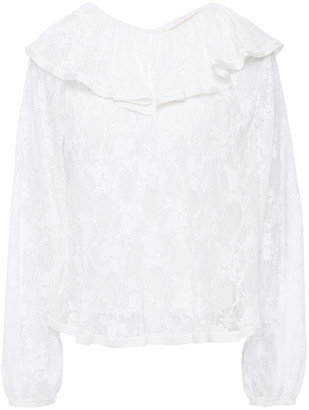 See by Chloe Grosgrain-trimmed Ruffled Lace Blouse
