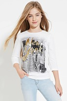 Forever 21 Girls NYC Graphic Top (Kids)