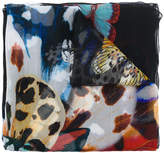 Roberto Cavalli butterfly print scarf