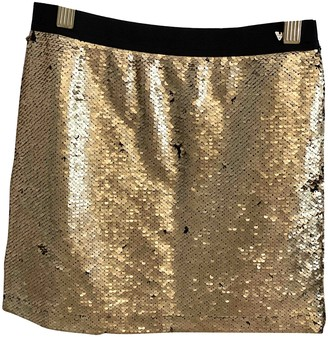GUESS Gold Cotton Skirts