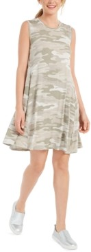 Style&Co. Style & Co Printed Flared Sleeveless Dress, Created for Macy's