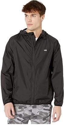 Salty Crew Seawall Packable Jacket (Black) Men's Coat