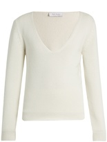 RYAN ROCHE Deep V-neck cashmere sweater