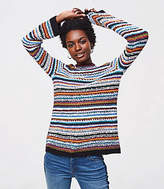 LOFT Petite Rainbow Stitch Sweater