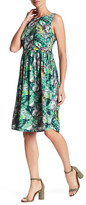 Collective Concepts Print Lace-Up Dress