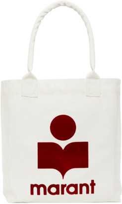 Isabel Marant White and Red Yenky Tote Bag