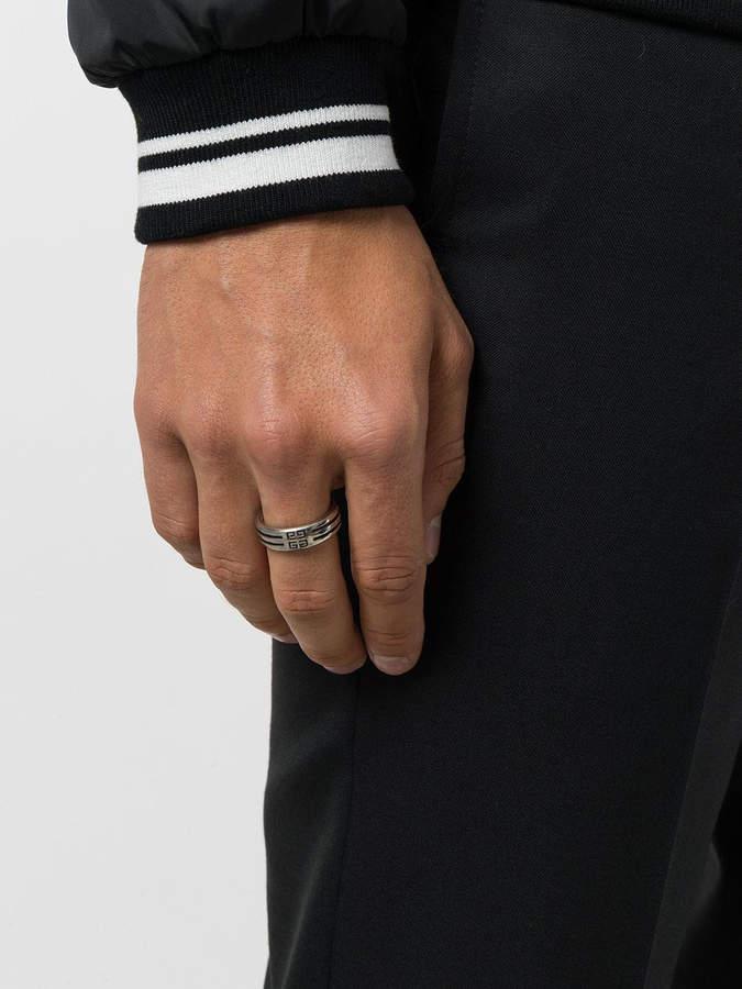 Givenchy Logo engraved ring