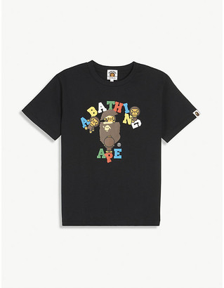 A Bathing Ape Logo-print cotton T-shirt 4-8 years