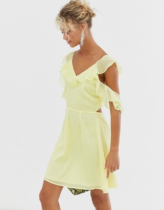 Glamorous ruffle detail mini dress