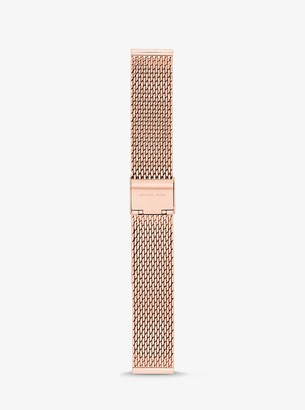 Michael Kors Gen 3 Runway Rose Gold-Tone Mesh Smartwatch Strap
