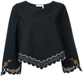 See by Chloe floral hem blouse - women - Cotton/Polyester - 38