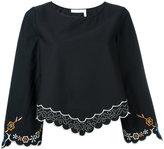 See by Chloe floral hem blouse