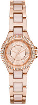 Michael Kors Women's Petite Camille Blush Acetate and Rose Gold-Tone Stainless Steel Bracelet Watch 26mm MK4292