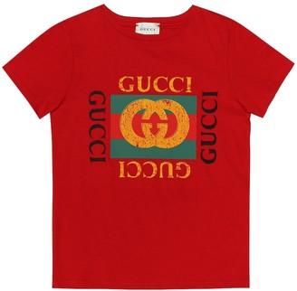 Gucci Kids Logo cotton T-shirt