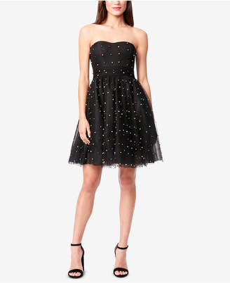 Betsey Johnson Embellished Fit & Flare Dress