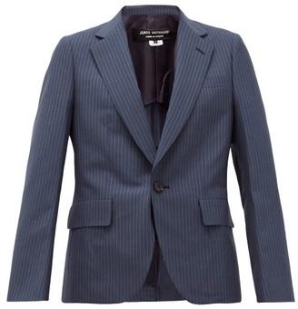 Junya Watanabe Single-breasted Pinstriped Wool Jacket - Blue Multi