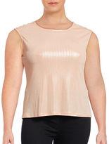 Calvin Klein Plus Metallic Sleeveless Top