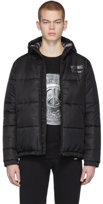 Moschino Black Logo Puffer Jacket
