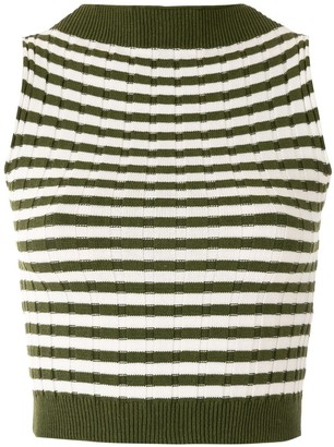 Eva Striped Knit Top