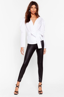 Nasty Gal Womens Wet's It to You High-Waisted Leggings - Black