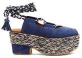 See by Chloe Adele espadrille-platform suede sandals