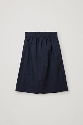 Cos Organic Cotton-Metal Fibre Mix A-Line Skirt