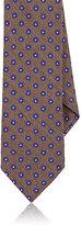 Barneys New York Men's Floral Wool-Silk Necktie-DARK GREEN